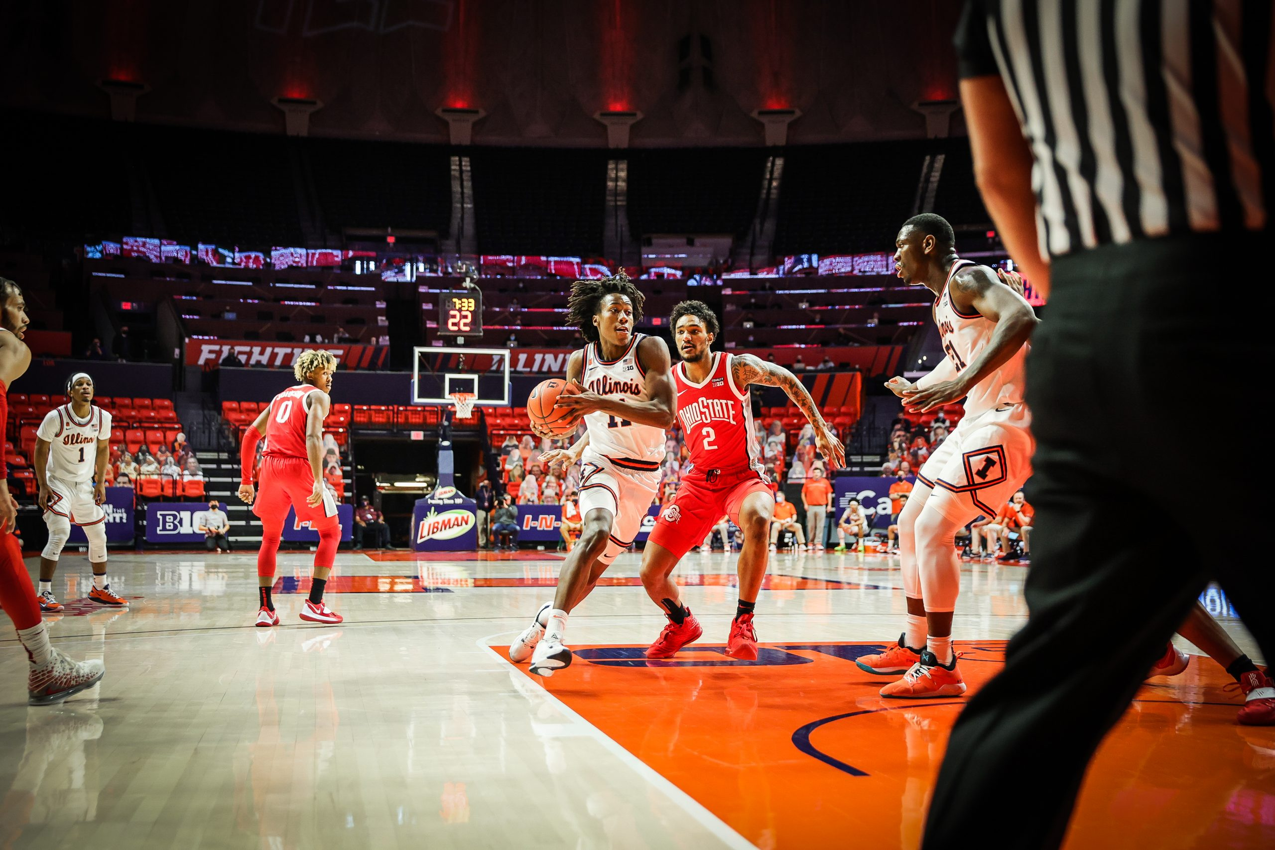 Ayo scores 22, but #14 Illini fall to 21st ranked Ohio State