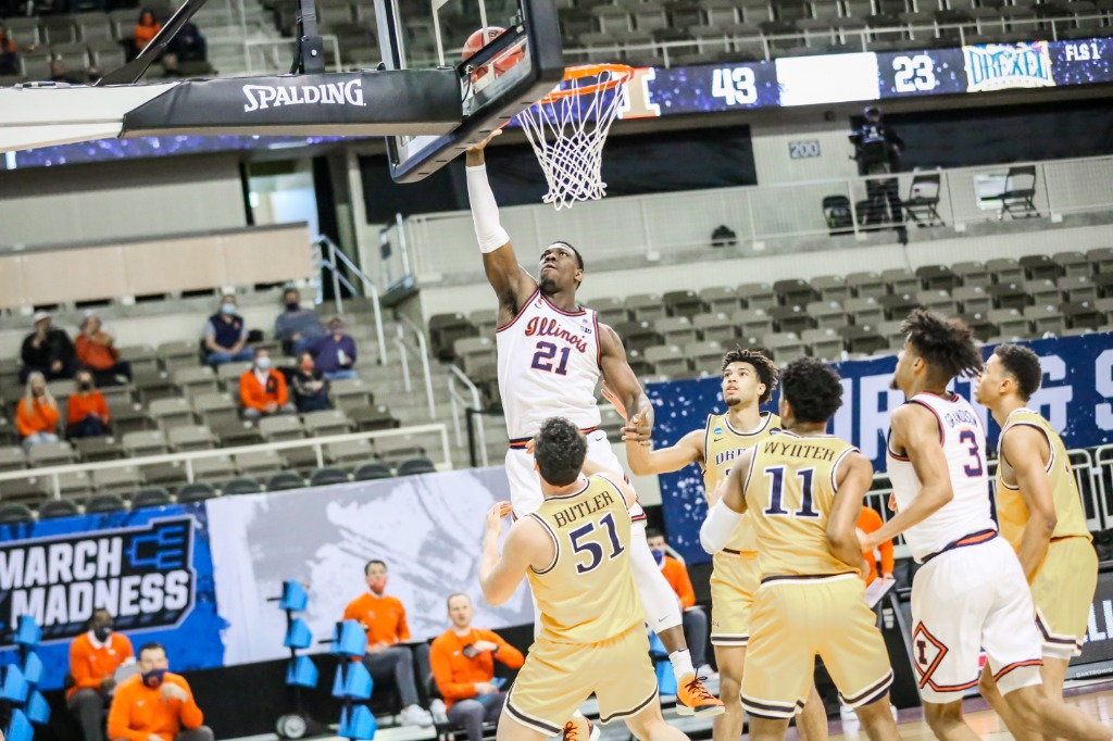 Top seeded Illini take care of business in NCAA opener, 78-49