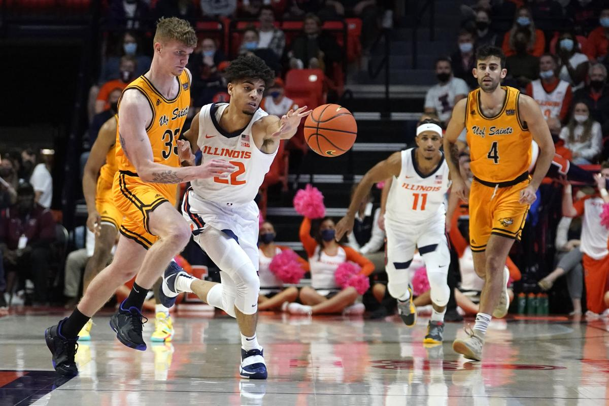 Illini Welcome Return Of Fans To State Farm Center With Exhibition Game Rout